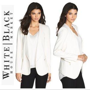 White House Black Market Drape Front Blazer